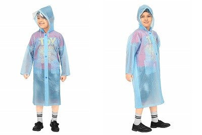 Goodluck Boys PVC Full Sleeve Raincoat