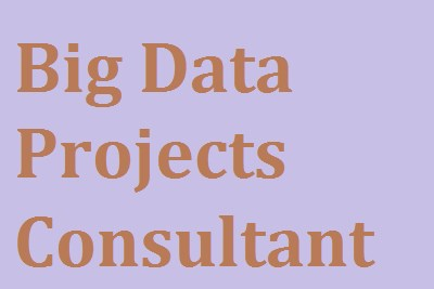 Big Data Projects Consultant
