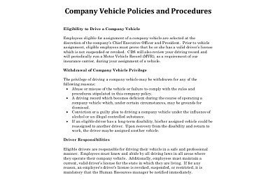 Company Policy Documents Printing