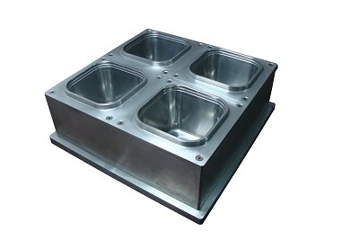 4 CAVITY SQUARE CONTAINER MOLD FOR ILLIG RV 53IN