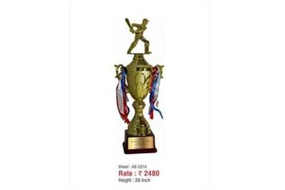 Cricket Metal Trophy