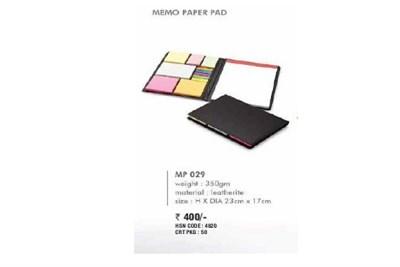 Memo Paper Pad