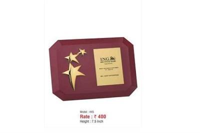 Star Wooden Trophy