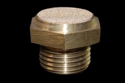 Brass Threading Button Silencer