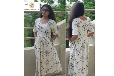 One Piece Frock Style Kurti In Pashan