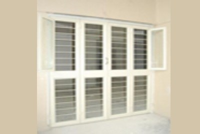2 Fold Shutter Doors With openable Windows