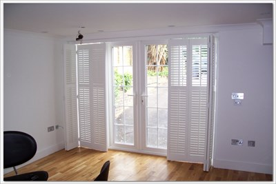 4 Fold Shutter Doors With openable windows