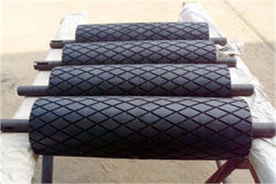 Diamond Grooved Rubber Roller
