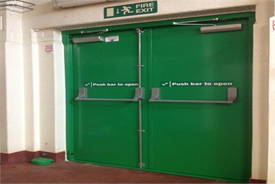 Fire Exit with Fire Doors