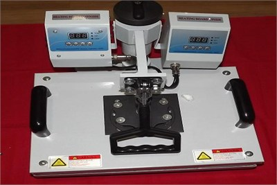 DUAL CORE FLAT BED HEAT PRESS MACHINE