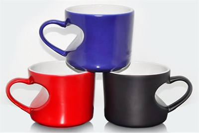 heart sheap magic mug