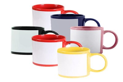 patch white sublimation mug