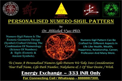 Personalised Numero-Sigil Pattern