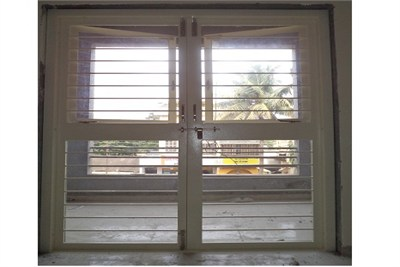 Two Shutter French  Door with  Window