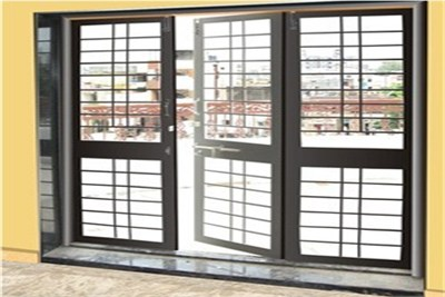 Three Shutter French Door With Window