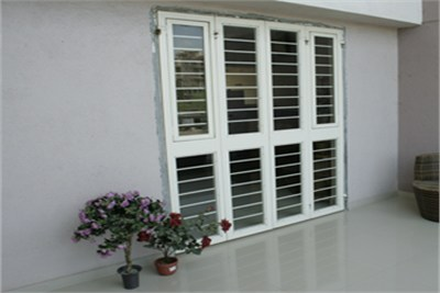 Four Shutter French Door With Window
