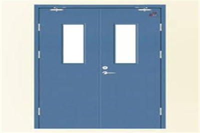 Double Leaf Fire Door With Vision Window