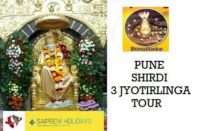 Shirdi 3 Jyotirlinga from Pune 3 Night 4 Days