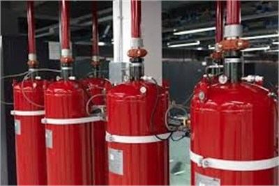 Gaseous fire suppression system