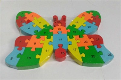 Alphabets Assemble Butterfly Wooden Puzzle
