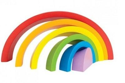 Rainbow 7 Colours Wooden Puzzle Assemble Cutouts
