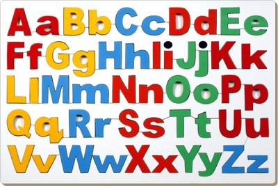 Capital Small Alphabet Tray