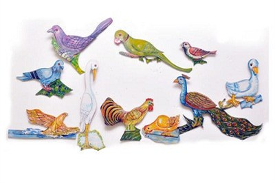 Birds Wall Hanging Durable Cutouts Set Of 10 Pictures Big