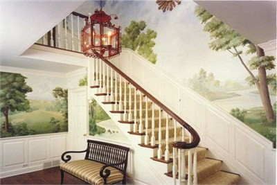 Exterior Wall Painting Of Various Landscapes