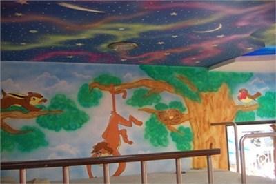 Interior Ceiling Galaxy Wall Decoration Service
