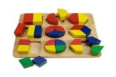 Fraction Puzzle Wooden