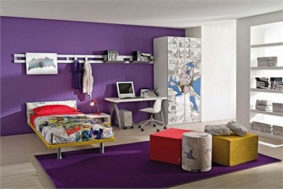 Purple Super Kids Bedroom