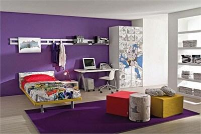 Purple Super Kids Bedroom