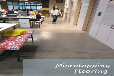 Microtopping flooring