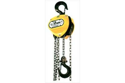 Triple spur gear chain pulley block