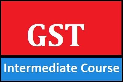 GST Intermediate Course