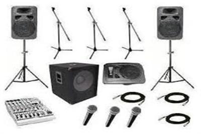 sound equipment on rent