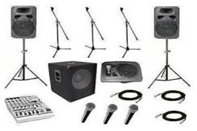 sound equipment on rent